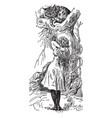 alice in wonderland vintage vector image vector image