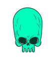 alien skull isolated ufo head skeleton vector image vector image