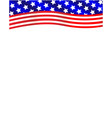 american flag wave decoration frame vector image vector image