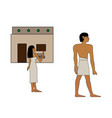 ancient egypt man goes to work vector image vector image