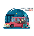 automobile car steal burglar robber thief robbery vector image vector image