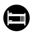 bed icon design vector image vector image