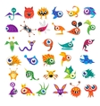 big set of cartoon cute monsters vector image