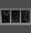 black wet paper bad glued wheatpaste set isolated vector image