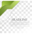 Bright green tech corporate geometric background vector image vector image