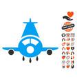 cargo plane icon with love bonus vector image vector image