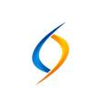 circle infinity logo vector image vector image