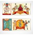 Circus vintage tickets set vector image vector image