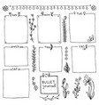 collection of design elements for bullet journal vector image vector image