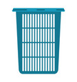 colorful silhouette of tall laundry basket without vector image vector image