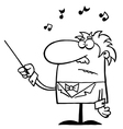 Conductor cartoon vector image vector image