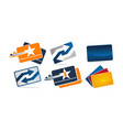 credit card fast solution set vector image