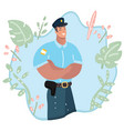 cute policeman character professional vector image vector image