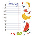 daily food diary with healthy food vector image vector image
