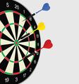 dartboard color vector image vector image