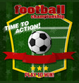 design on the football theme vector image