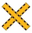 do not cross yellow ribbon vector image