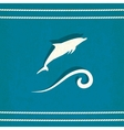 dolphin marine old background vector image