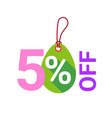 easter sale tag isolated holiday discounts sticker vector image vector image