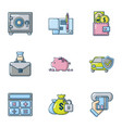 financial calculation icons set flat style vector image vector image