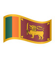 flag of sri lanka waving on white background vector image