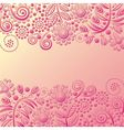 Floral nature pattern background vector image vector image