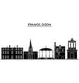france bourgogne franche comte dijon vector image