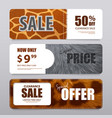 fur texture realistic banners vector image vector image