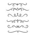 hand drawn symmetrical flourishes swirls text vector image