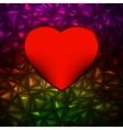 Heart bokeh frame with space EPS 8 vector image vector image