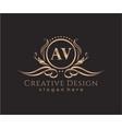 initial av beauty monogram and elegant logo design