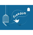 inspirational freedom with dove icon vector image