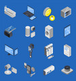 iot internet of things isometric icon set vector image vector image