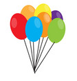 isolated carnival party balloons icon vector image