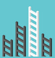 isometric ladders one unique vector image vector image