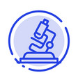 lab microscope science zoom blue dotted line line vector image vector image