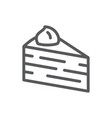 layered cake triangular piece pixel perfect icon vector image vector image