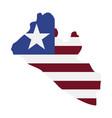 map liberia - flag vector image vector image