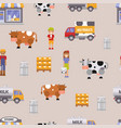 milk dairy farm to table vector image vector image
