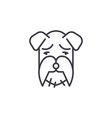 miniature schnauzer line icon sign vector image vector image