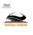 Modern football stadium building icon vector image vector image
