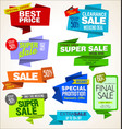 modern sale origami banners and labels collection vector image