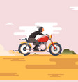 motorbike with fast speed vector image