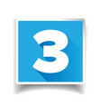 Number three label or number icon vector image vector image