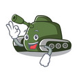okay tank character cartoon style vector image