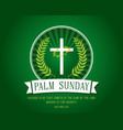 palm sunday banner vector image vector image