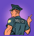 police officer cop points directions vector image