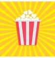 Popcorn Cinema movie icon in flat design style vector image vector image