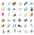 recruiter icons set isometric style vector image vector image