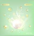 Regenerate cream and Vitamin vector image vector image